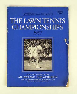 Programme, 1957 Wimbledon Lawn Tennis Championships