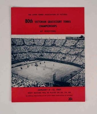 Programme, 1969 Victorian Grasscourt Tennis Championships