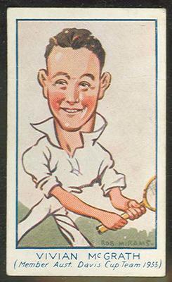 1933 Carreras (Turf) Personality Series Vivian McGrath trade card