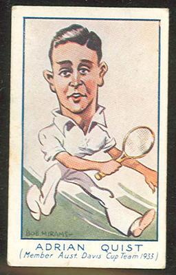 1933 Carreras (Turf) Personality Series Adrian Quist trade card
