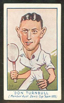 1933 Carreras (Turf) Personality Series Don Turnbull trade card