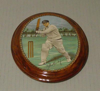 Plaque, image of William Woodfull