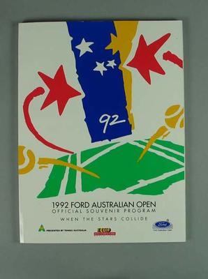 Programme, 1992 Australian Open