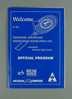 Programme, Australian Wheelchair Tennis Open 1992