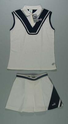 """White Puma """"Martina Navratilova"""" tennis outfit"""