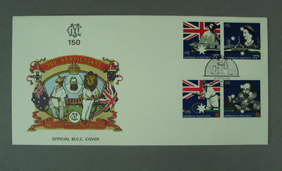 First day cover, Australian Bicentenary stamp issue - Cricketing Links