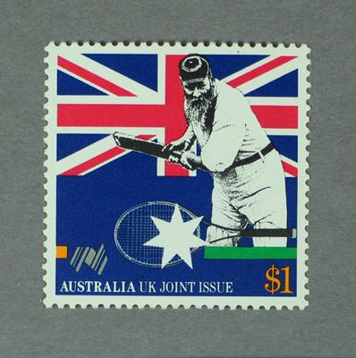 Postage stamp, Australian Bicentenary issue - W G Grace