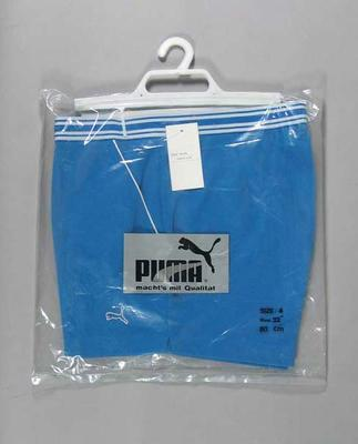 "Blue Puma ""Davis Cup"" tennis shorts"