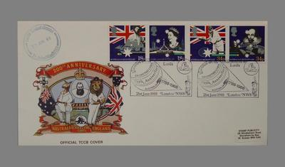 First day cover, Australian Bicentenary - Cricketing Links