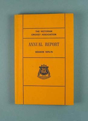 Annual report, Victorian Cricket Association - season 1975/76