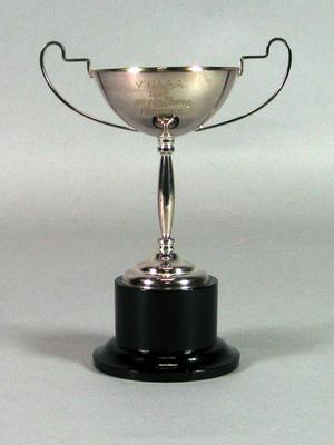 Trophy awarded by VWAAA for 1932 100 yards sprint champion, presented to Emily Brooks