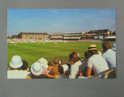 Postcard, Famous Test Match Grounds - Kennington Oval