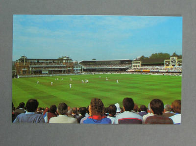 Postcard, Famous Test Match Grounds - Lord's