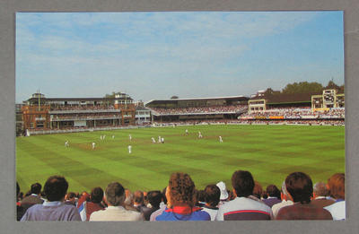 Postcard, Famous Test Match Grounds - Lord's; Documents and books; M5637.6