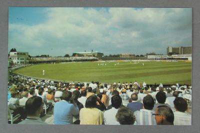 Postcard, Famous Test Match Grounds - Trent Bridge