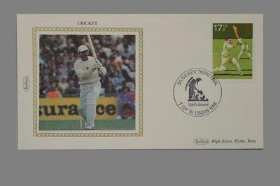 First day cover, Natwest Trophy Final - 7 Sept 1985; Documents and books; M5643