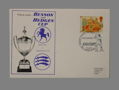 First day cover, Benson & Hedges Cup Final - 12 Jul 1986