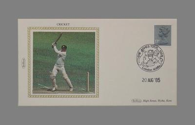 First day cover, England v Australia Test match - 20 Aug 1985