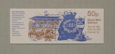 Stamp booklet, Marylebone Cricket Club Bicentenary 1787-1987