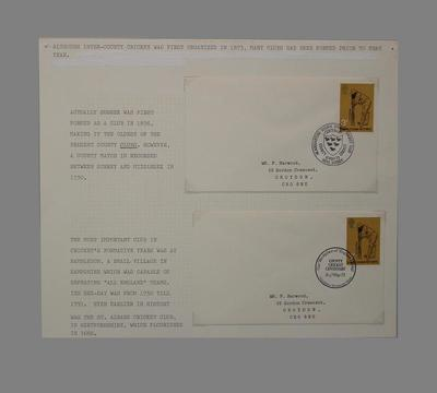 First day covers, County Cricket Centenary - 16 May 1973