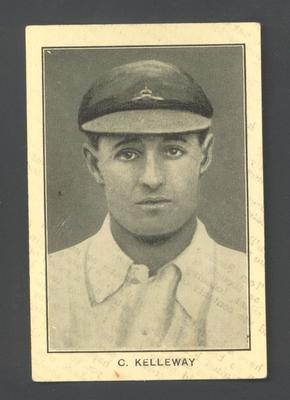 1928-29 Amalgamated Press (Triumph) Famous Australian Cricketers C Kelleway trade card