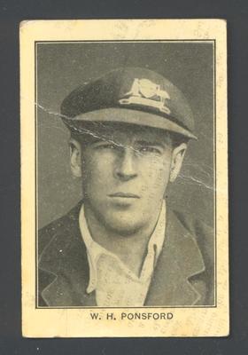 1928-29 Amalgamated Press (Triumph) Famous Australian Cricketers W Ponsford trade card