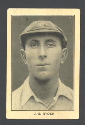 1928-29 Amalgamated Press (Triumph) Famous Australian Cricketers J Ryder trade card