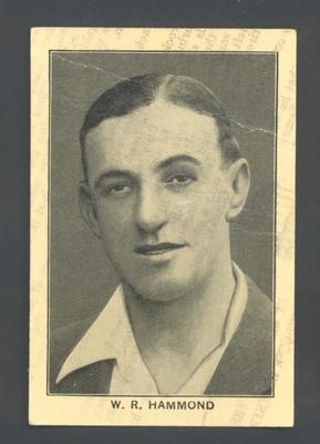 1928 Amalgamated Press England's Test Match Cricketers W Hammond trade card