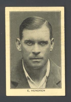 1928 Amalgamated Press England's Test Match Cricketers E Hendren trade card