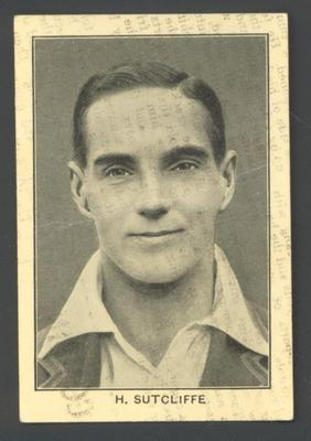 1928 Amalgamated Press England's Test Match Cricketers H Sutcliffe trade card