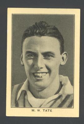 1928 Amalgamated Press England's Test Match Cricketers M Tate trade card