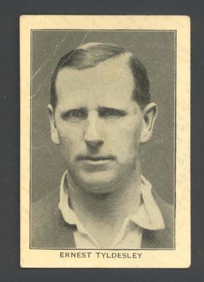 1928 Amalgamated Press England's Test Match Cricketers E Tyldesley trade card