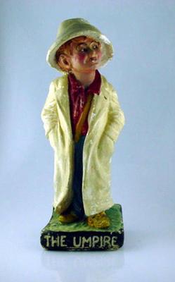 "Plaster figurine, ""The Umpire"""