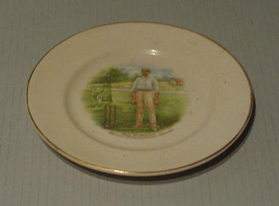 Ceramic plate with image of Syd Barnes
