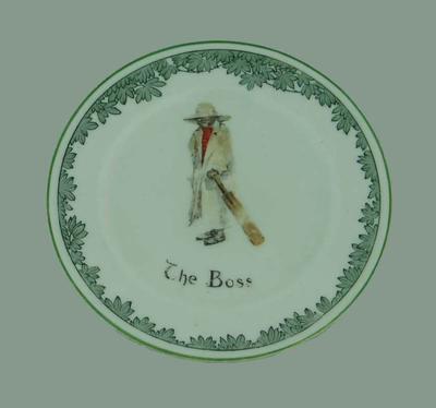 Ceramic plate, 'The Boss'