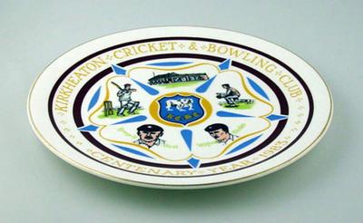 Plate, Kirkheaton Cricket & Bowling Club Centenary Year 1983