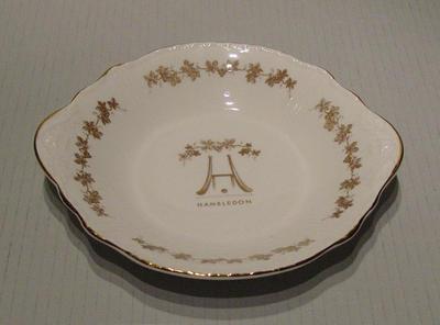 "Bowl, ""Hambledon""; Domestic items; M5420"