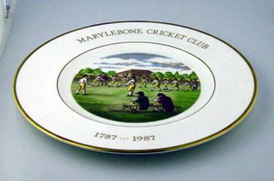 Plate, Marylebone Cricket Club 1787-1987