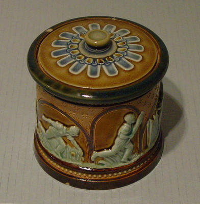 Doulton Lambeth jar, cricket design