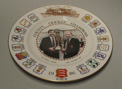 County Cricket Champions plate, 1986; Domestic items; M5447