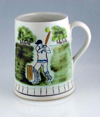 Buchan Portobello ceramic mug with cricket design