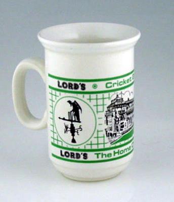 Ceramic mug with Lords Cricket Ground design