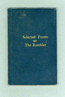 "Book, ""Selected Poems by The Rambler"""