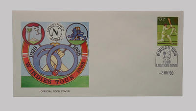 First day cover, West Indies cricket tour of England - Opening Match, 8 May 1988