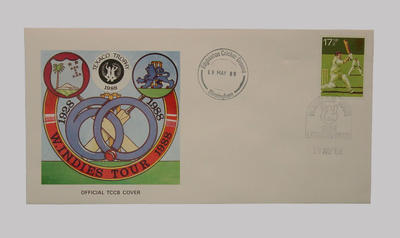 First day cover, West Indies cricket tour of England - Texaco Trophy, 19 May 1988; Documents and books; M5498