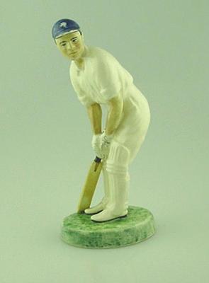 "Ceramic figurine, ""Cricketer at the Crease"""