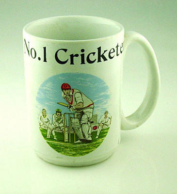 "Mug, ""No. 1 Cricketer"""