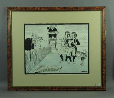 Cartoon regarding Wimbledon traditions, by Wells
