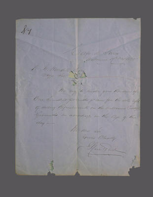 Tender submitted to Melbourne Cricket Club by Spiers & Pond, 1860; Documents and books; Documents and books; M4983