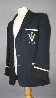 Victorian Amateur Athletic Association blazer, worn by Alan Reid c1930s-40s